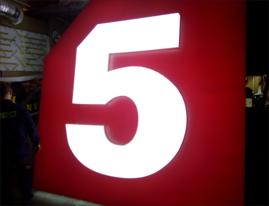 Объемный логотип 5-Канала